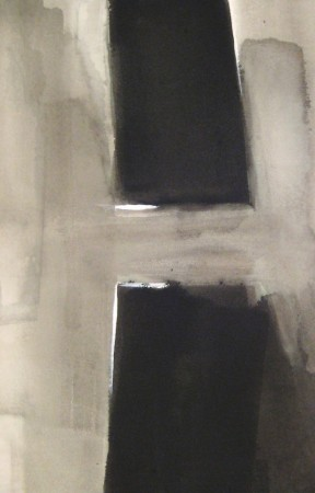 abstract painting-black white-acrylic-12