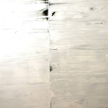 abstract painting-black white-acrylic-Seam