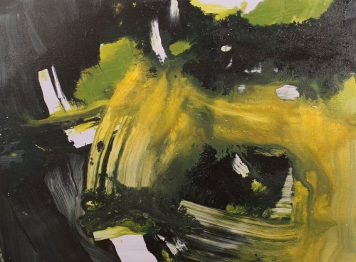 abstract painting-greeen-acrylic-untitled