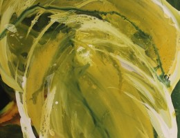 abstract painting-green-acrylic-hosta1
